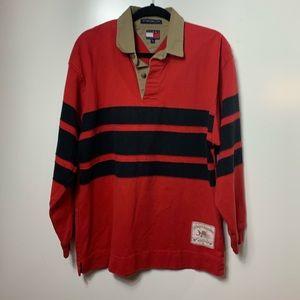 Tommy Hilfiger long sleeve polo shirt mens medium